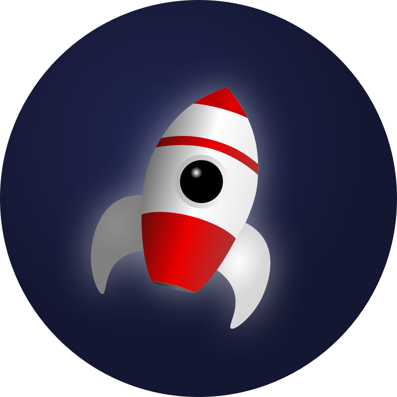 Rocket in Space by Mahmoud - icon/symbol style rocket
