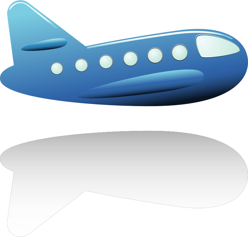 Aircraft by vectorsme - Blue aircraft.
