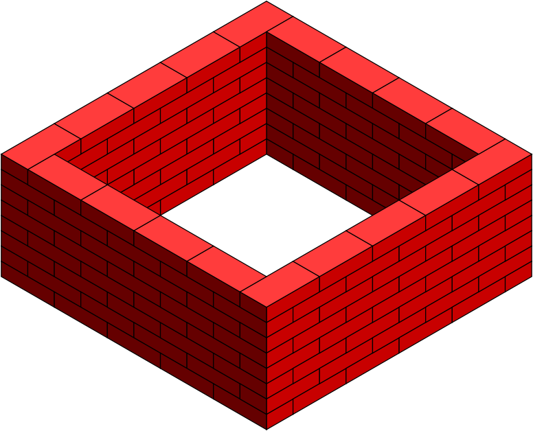 Wall Design Clipart : Clipart brick frame intacted