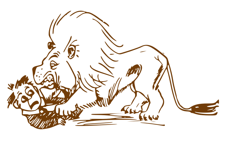 Hungry lion by Pippi2011 - lion, hungry lion, trace