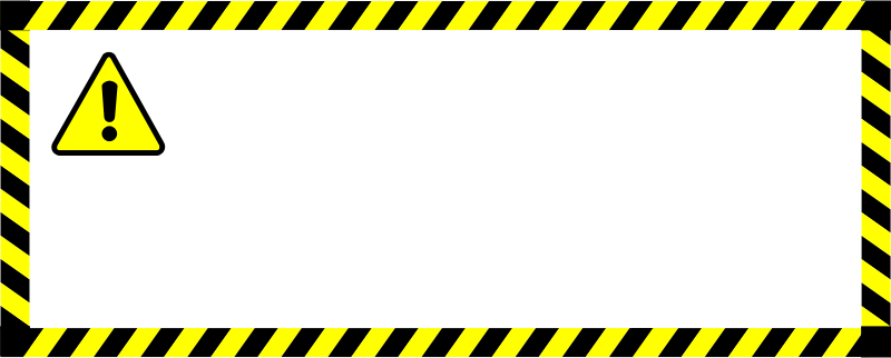 Warning sticker by fbianco - warning sticker/decal with symbol and frame