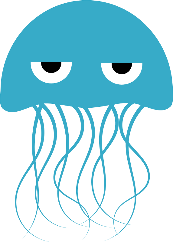 Jellyfish by uroesch - Simple jelly fish with sleepy eyes.