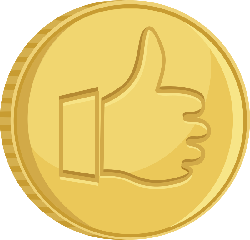 Coin thumbs up by AhNinniah - Coin with thumbs up