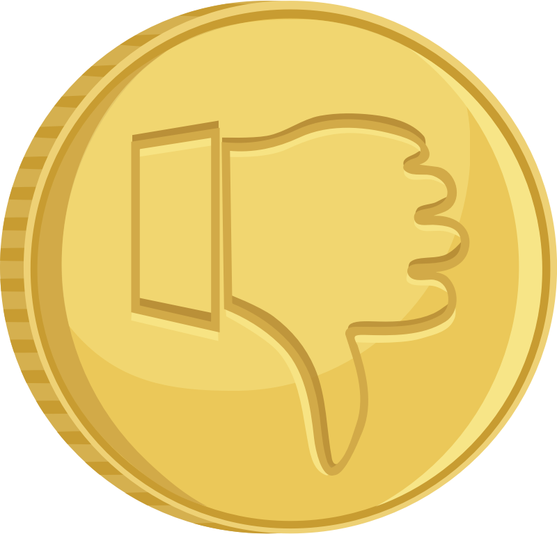 Coin thumbs down by AhNinniah - Coin with thumbs down