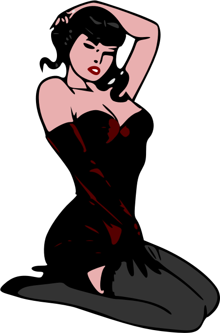 Pin-up red by liftarn - Retro style pin-up girl.