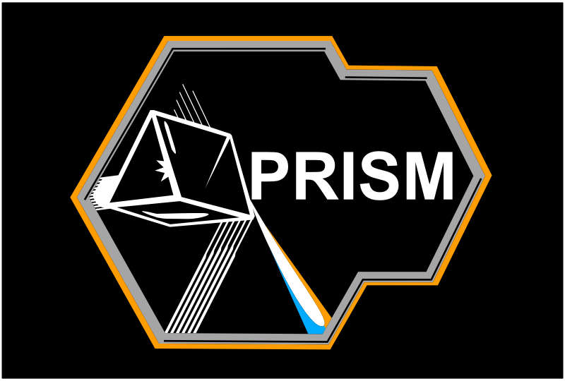 PRISM logo by Last-Dino - PRISM is a clandestine mass electronic surveillance data mining program operated by the United States National Security Agency (NSA) since 2007. This is a simplified and stylized version of their logo/ emblem for stickers, t-shirts, etc.