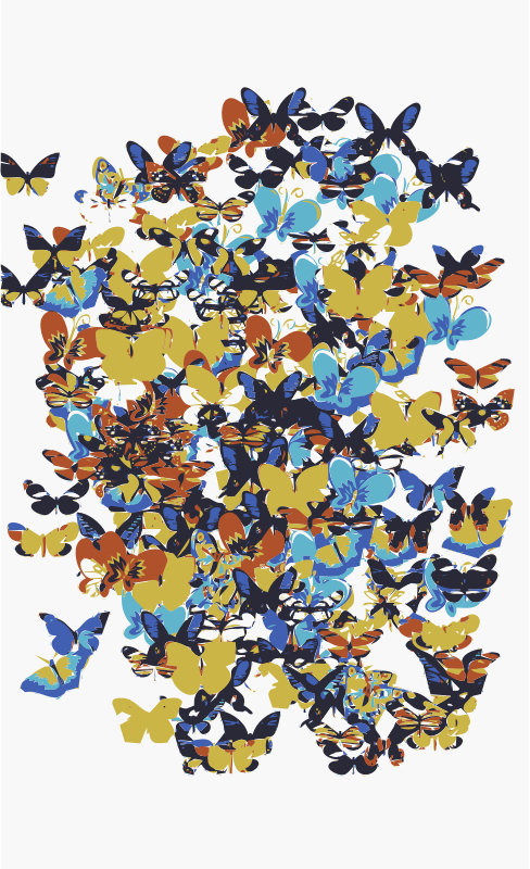 A swarm of butterflies by rejon