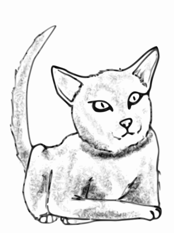 Cat by Child_of_Light - A cat drawn in GNU/Linux using MyPaint using Pinta to resize and Inkscape to vectorize