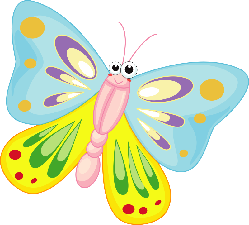 Cartoon Butterfly by vectorsme