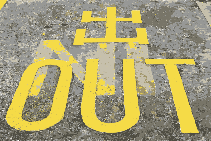 Out or is that in? by rejon - Out on the ground