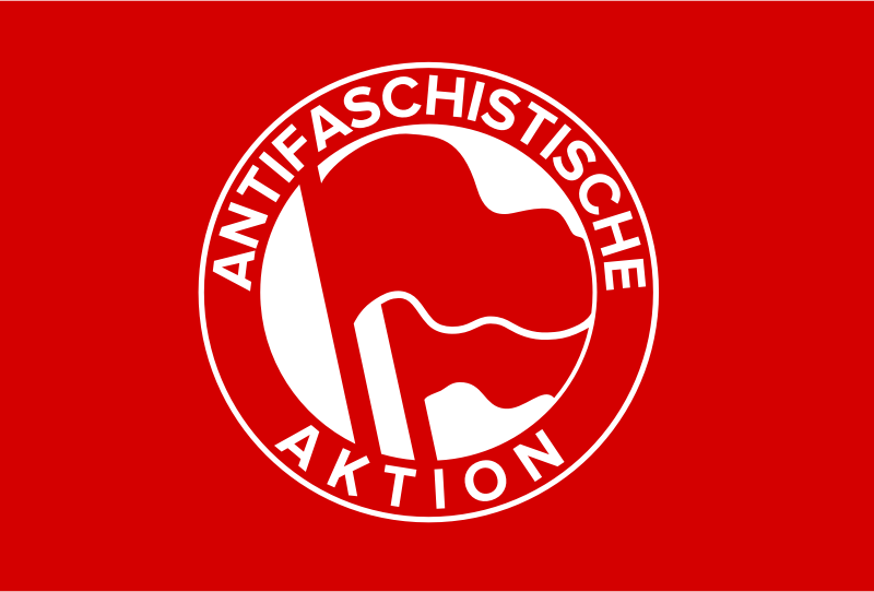 Antifa Flag -  Antifa-Fahne by worker - A flag of action.