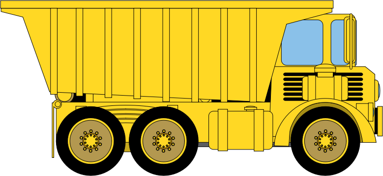 Dump Truck by azieser - A large mining or rock quarry truck for use in your projects or any application requiring a dump truck. Not modeled after any particular brand.