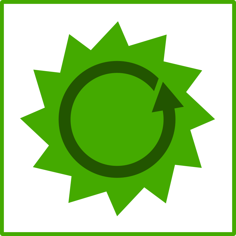 Eco green energy icon by dominiquechappard