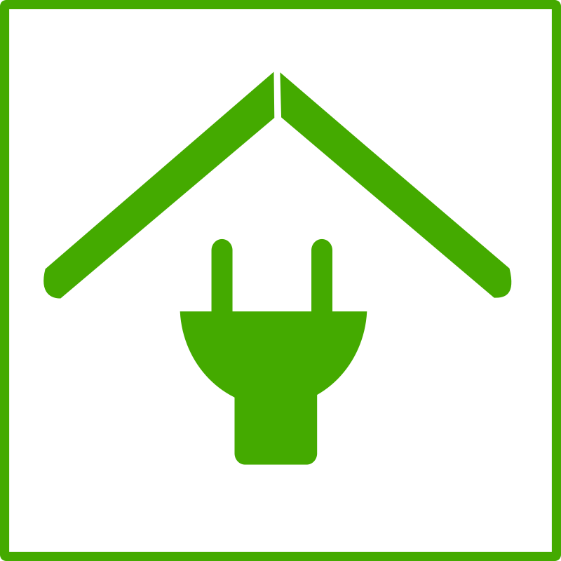 Clipart - Eco green house icon