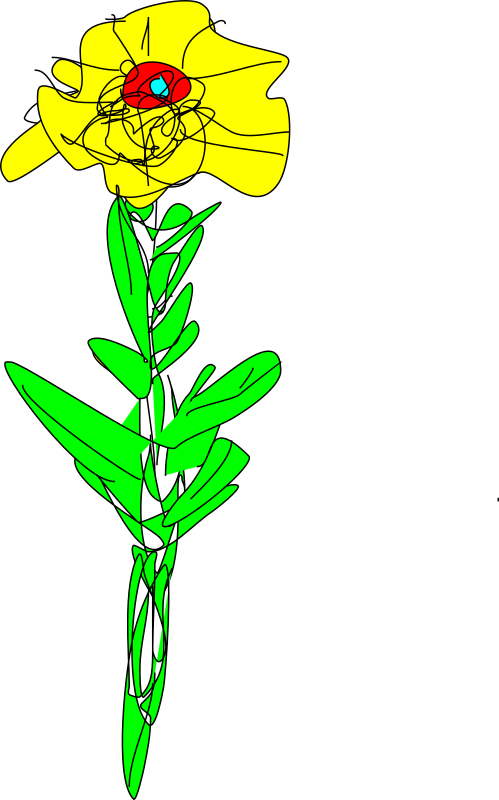 Simple yellow flower 2 by gurdonark - Sunflower created using the open source vector graphics drawing program Karbon