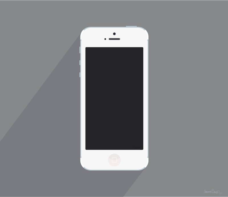 White iPhone 5 by barrettward - A fairly accurate white iPhone 5 with detailed camera and speaker mesh.