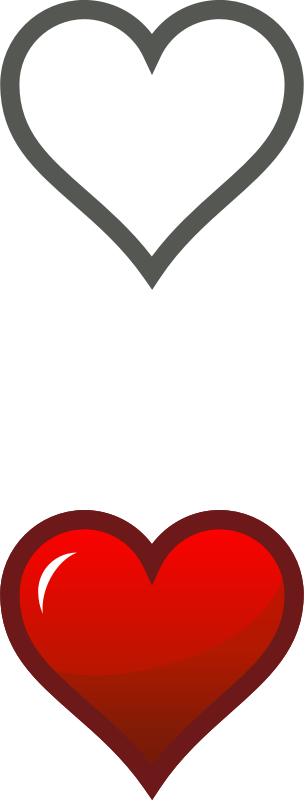 Clipart Heart Icon Combined