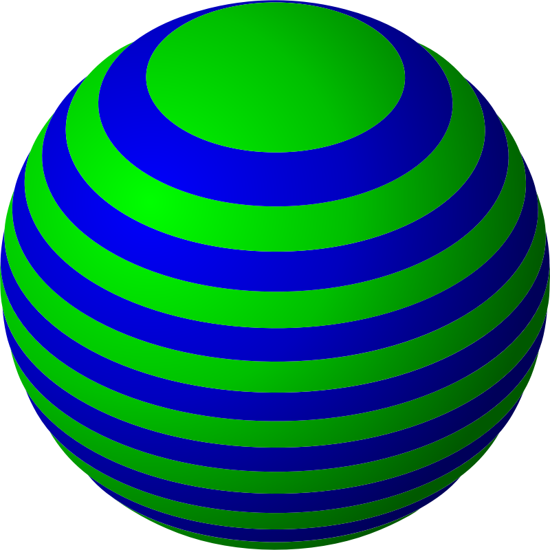 Clipart - Striped Ball