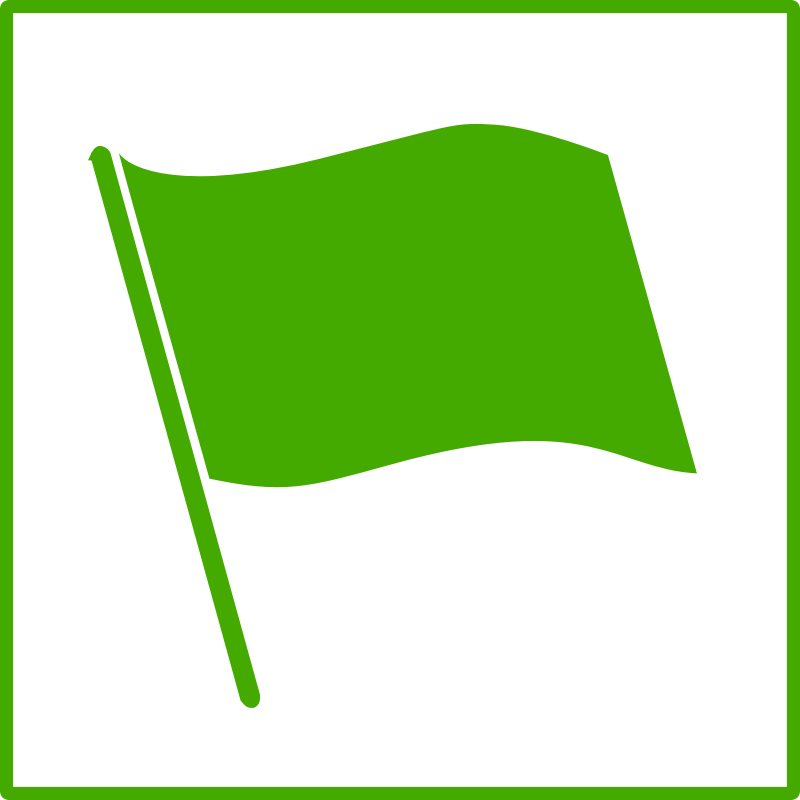 Back > Gallery For > Green Flag Icon Png