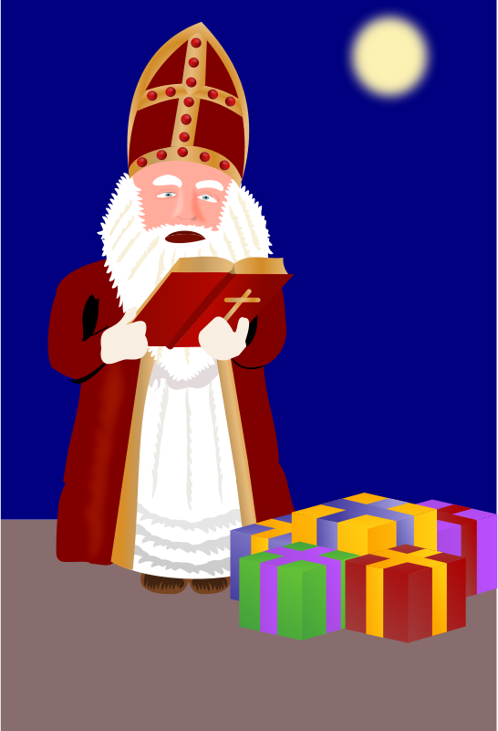 Sinterklaas with presents by rdevries - Sinterklaas is checking his book who's had his present and who's not. - The tumbnail couldn't be created correctly.