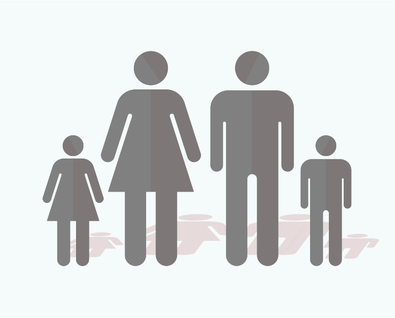 A Remixed Silhouette Family  by barrettward - A remixed family of bathroom sign people.
