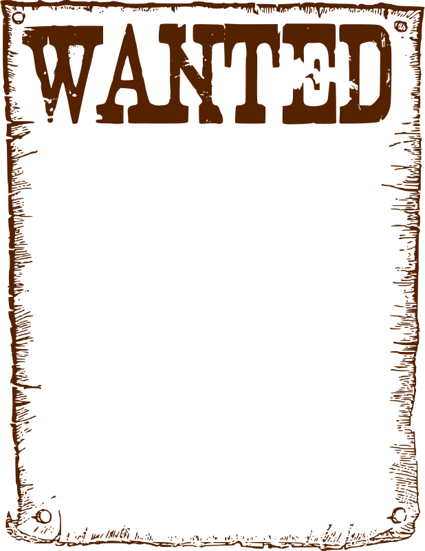 Clipart Wanted Frame