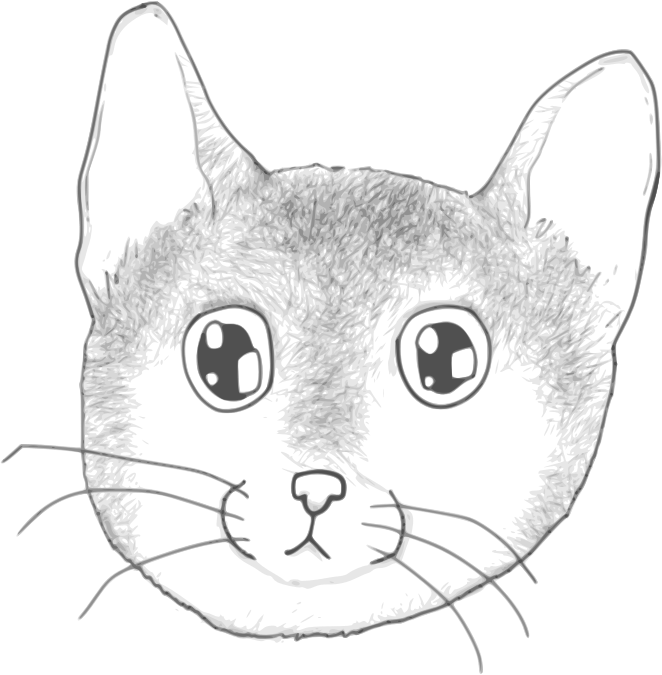 A stripped kitten face by Child_of_Light - A stripped kitten face made in GNU/Linux using Inkscape and Mypaint