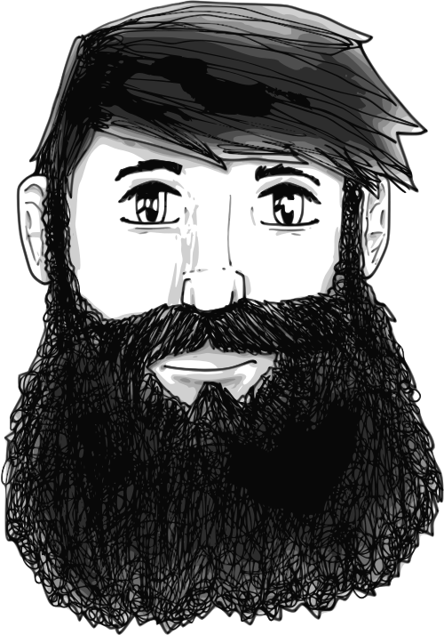 A guy with a beard by Child_of_Light - A guy with a beard made in GNU/Linux with Inkscape and Mypaint