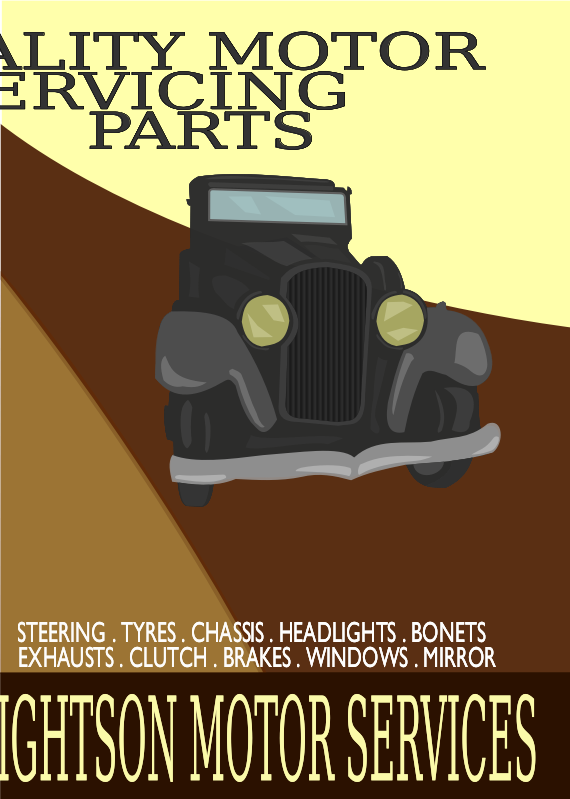 Vintage Car Poster 1 by JArt - An A2 Printable poster in the style of a 1930's advertisement. Car is based on a 1932 Buick