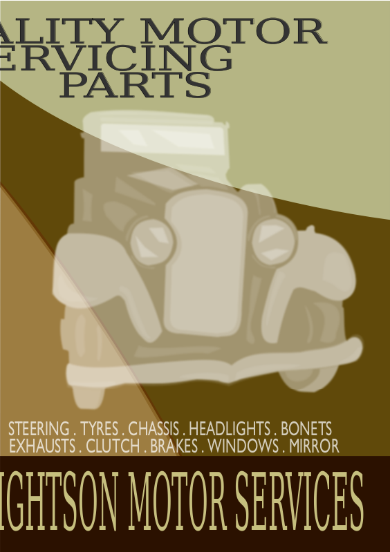 Vintage Car Poster 2 by JArt - An A2 Printable poster in the style of a 1930's advertisement. Car is based on a 1932 Buick