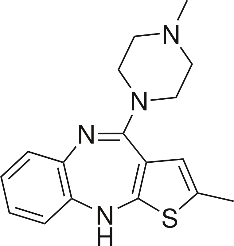 Olanzapine by Magirly - Public Domain Source http://en.wikipedia.org/wiki/Olanzapine