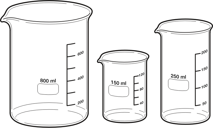 Beakers by Magirly - Public Domain Source http://commons.wikimedia.org/wiki/File:Beakers.svg