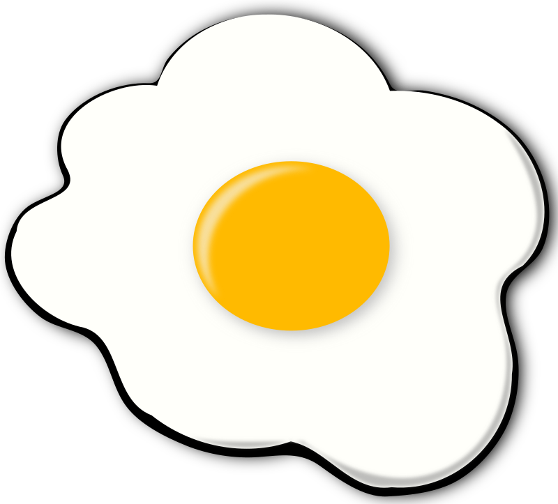 clipart jajko  sunny side up egg Fried Egg Coloring Page fried egg clipart images