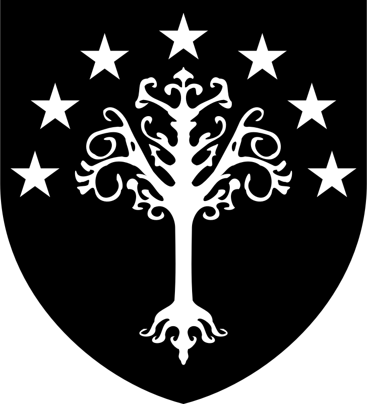 Escudo Gondor by Magirly - Public Domain Source http://en.wikiquote.org/wiki/User:Kalki/Vox_Box