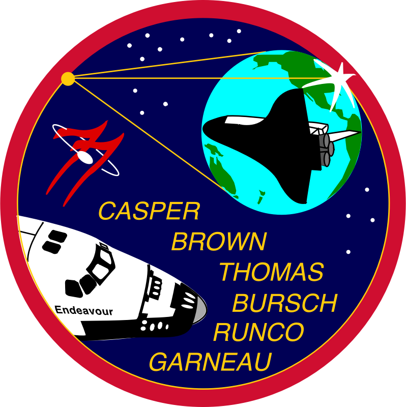NASA STS-77 Patch by NASA - Public Domain Source http://commons.wikimedia.org/wiki/File:NASA-STS77-Patch.svg