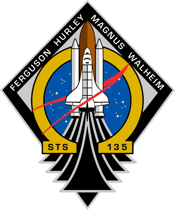 STS-135 Patch by NASA - Public Domain Source http://commons.wikimedia.org/wiki/File:STS-135_Patch.svg