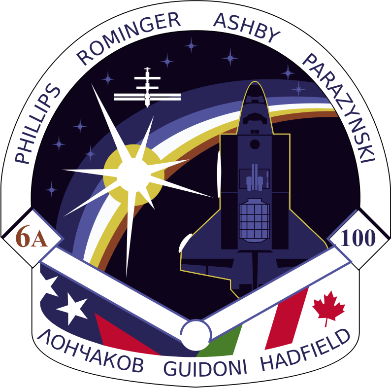STS-100 Patch by NASA - Public Domain Source http://en.m.wikipedia.org/wiki/File:STS-100_patch.svg