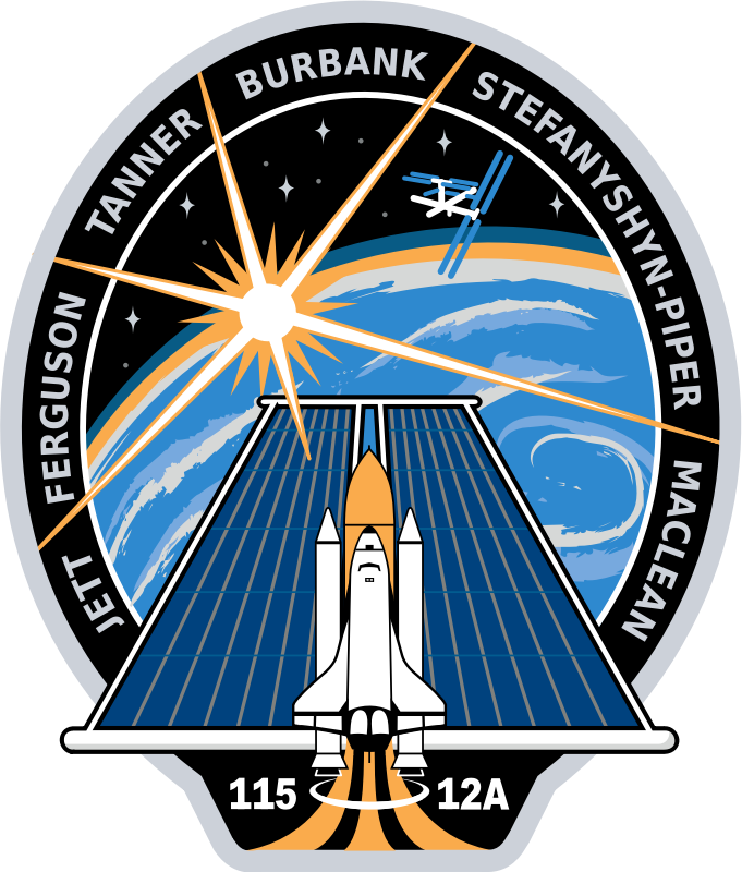 STS-115 Patch by NASA - Public Domain Source http://commons.wikimedia.org/wiki/File:STS-115_patch.svg
