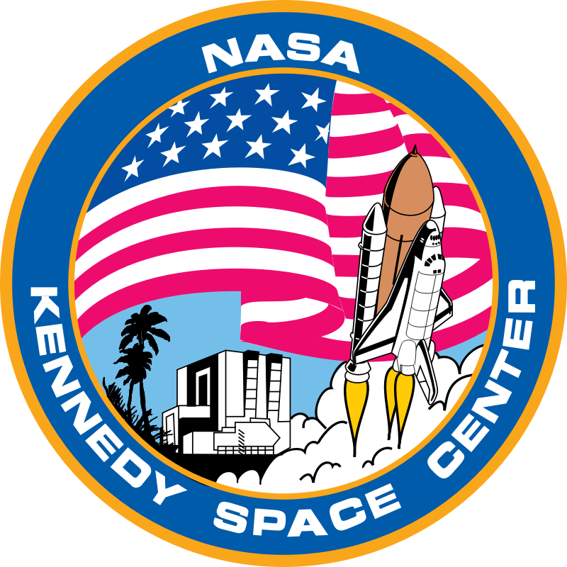 Kennedy Space Center by NASA - Public Domain Source http://commons.wikimedia.org/wiki/File:US-KennedySpaceCenter-Logo.svg