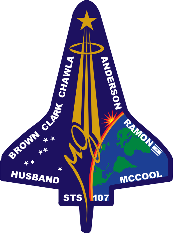 STS-107 Flight Insignia by NASA - Public Domain Source http://commons.wikimedia.org/wiki/File:STS-107_Flight_Insignia.svg