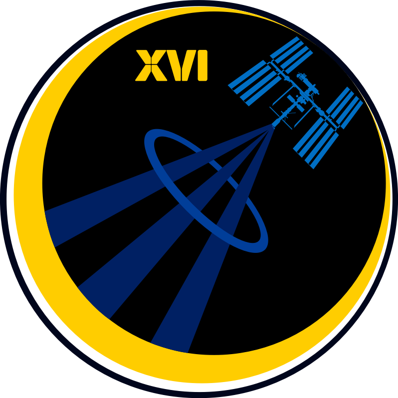 ISS Expedition 16 Patch by NASA - Public Domain Source http://commons.wikimedia.org/wiki/File:ISS_Expedition_16_patch.svg