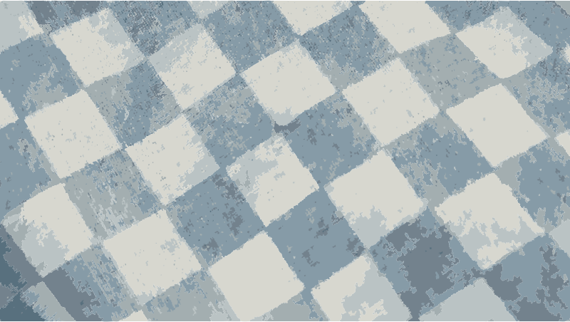 Flat checker pattern in blue and white by peteippel - Close up shot of woven cloth username:hypermodern