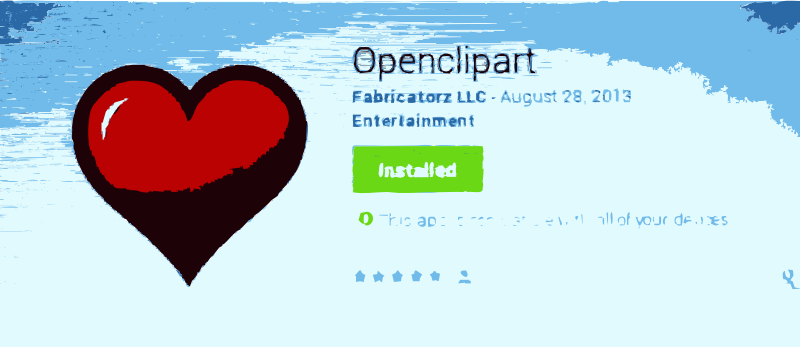 NEW: Openclipart for Android Released. Give some love to your favorite clip art and artists by openclipart - Its our first Android app. Get in google play store: https://play.google.com/store/apps/details?id=org.openclipart.love