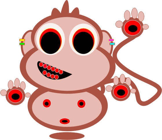 Red monkey by loveaddictboy - A drawing of a red monkey