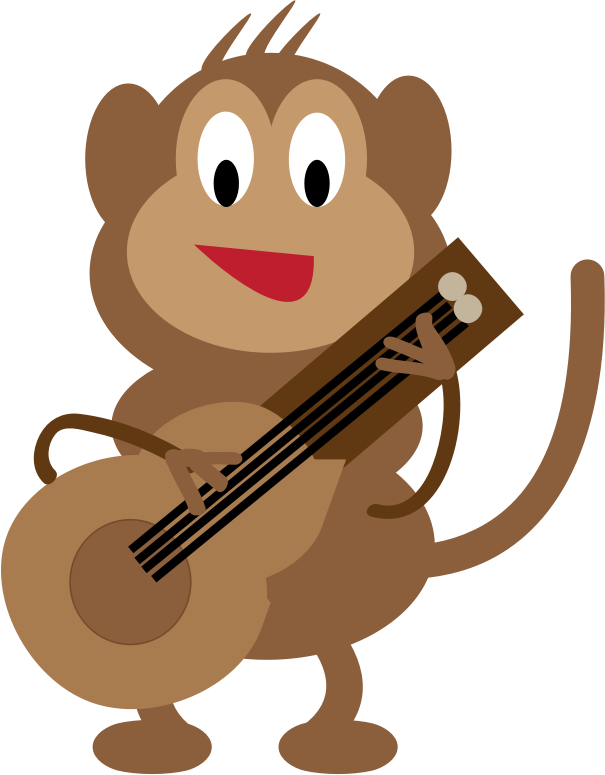 Monkey Guitarist by ernest.goh20