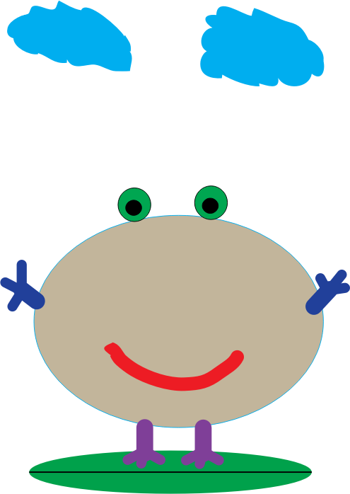 Froggy by alvenkoh99 -  A cartoon of a happy frog