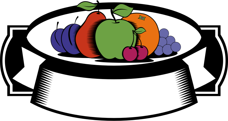 Greengrocery emblem by rones - Emblem with fruits