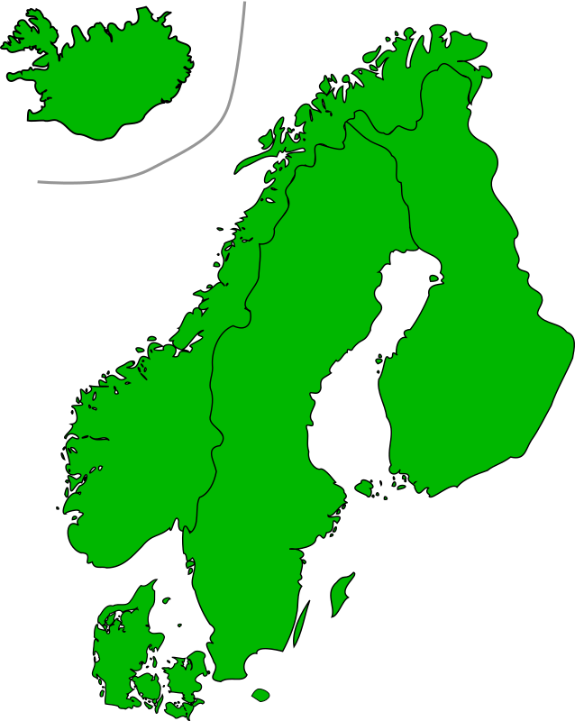 Map Of Scandinavia by Jarno