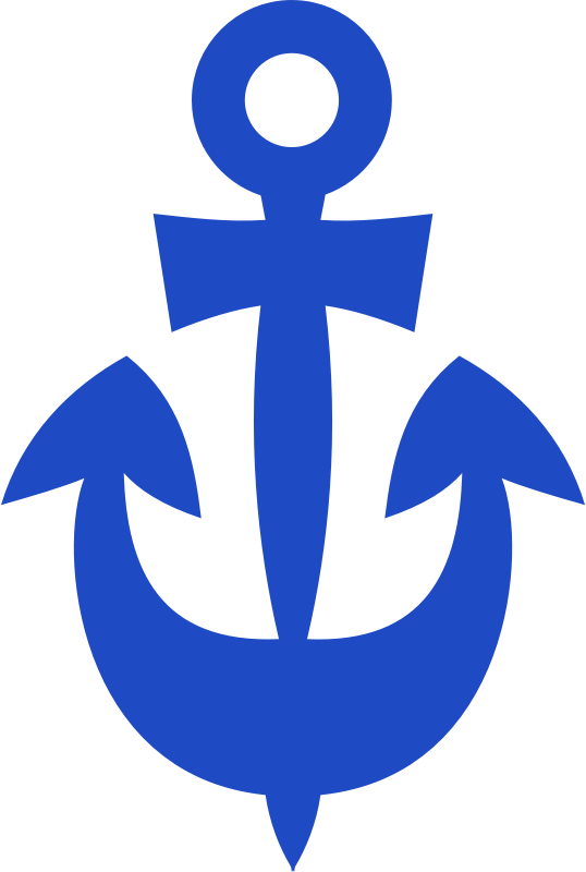 Merry anchor by rones - Cheerfully drawed anchor.