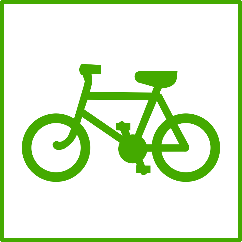 eco green cycle icon by dominiquechappard - eco icon - bicycle
